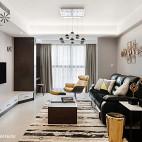 现代简约三居客厅设计效果图