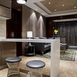现代酒店式公寓吧台图片