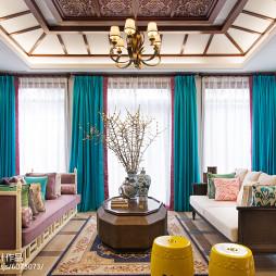 东南亚风格客厅别墅装修图片