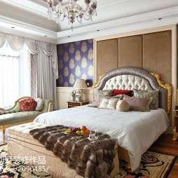 混搭风格别墅卧室背景墙装修图片