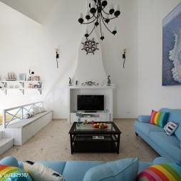 地中海复式客厅装修设计