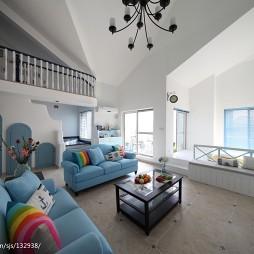 地中海复式客厅装修设计效果图