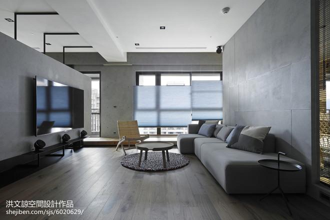 现代简约三居客厅装修图片