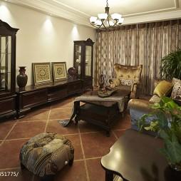 美式风格三居客厅装修效果图大全