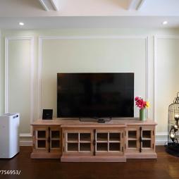 现代美式设计电视背景墙效果图