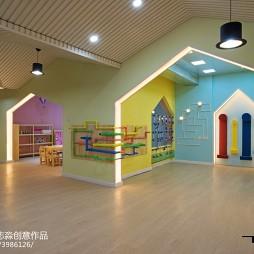 时尚幼儿园走廊效果图