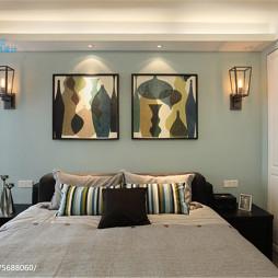 现代简约家装卧室背景墙设计装修