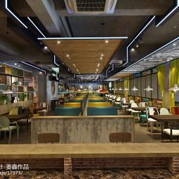 美式西唐休闲餐厅餐桌设计