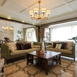 美式田园风格客厅设计大全