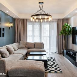 家装现代沙发背景墙装修图