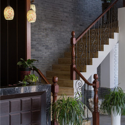 度假酒店楼梯设计
