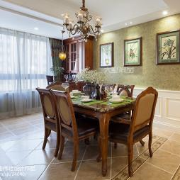 140㎡美式公寓餐厅设计