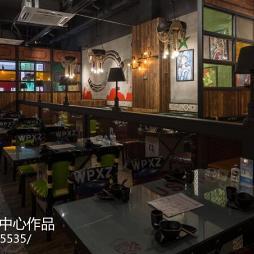烤鱼餐厅餐桌设计