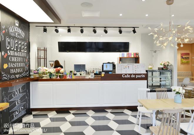韩国咖啡厅点餐台设计