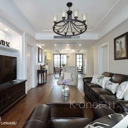 现代美式客厅效果图