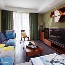 现代美式客厅设计装修