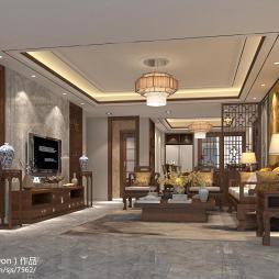 简约中式家居装修效果图