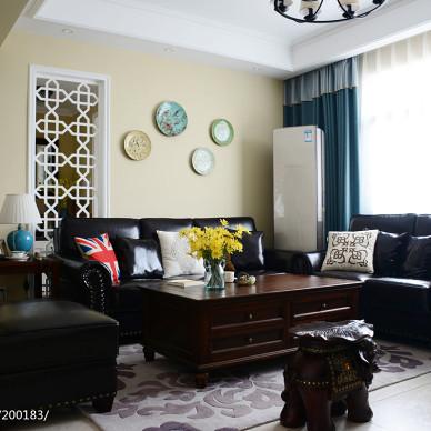 家装美式风格客厅效果图