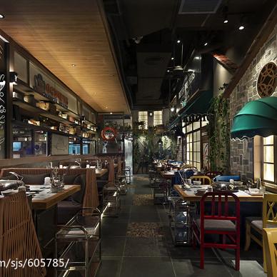 公装典雅餐厅过道设计图