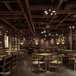 公装典雅咖啡厅吊顶设计