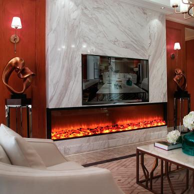家居时尚混搭壁炉设计