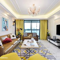 132㎡简约风格客厅设计