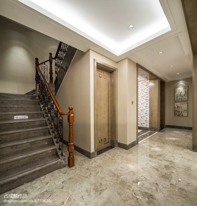 家居中式风楼梯效果图