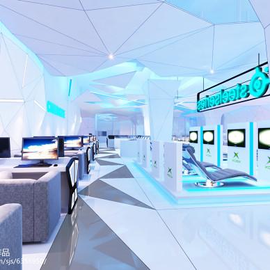 NASA CyberCafe网鱼网咖过道装修