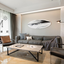 156㎡现代简约客厅设计