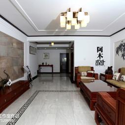中式家装格调客厅设计