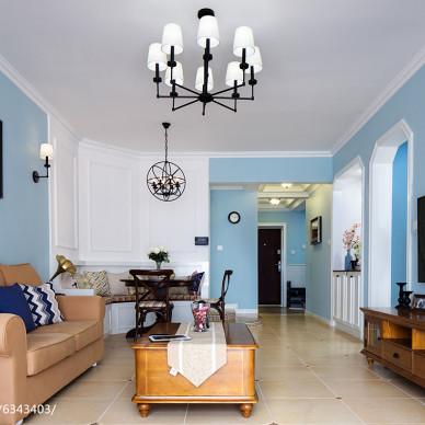 美式客厅装饰图