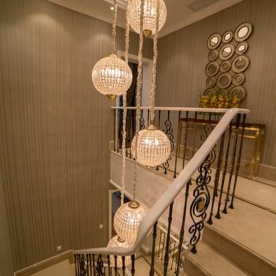 奢华欧式别墅楼梯装修