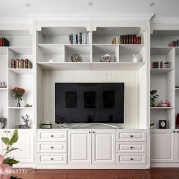 美式风格电视背景墙装修