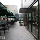 漫咖啡室外座位设计