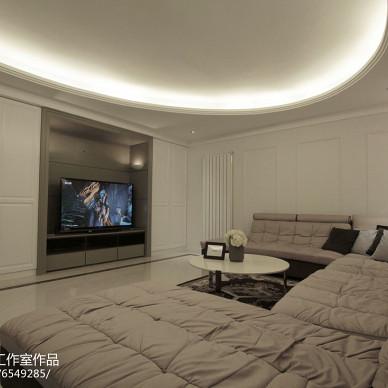 家装简欧风格客厅布局效果图