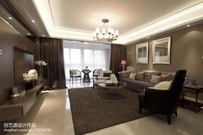 现代风格样板房客厅设计