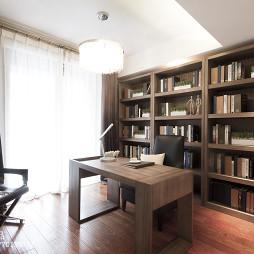现代风格样板房书房装修