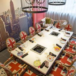 时尚火锅店餐桌设计