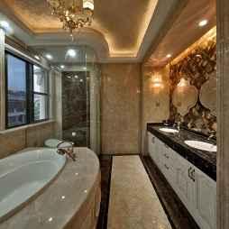 奢华新古典风格卫浴布置