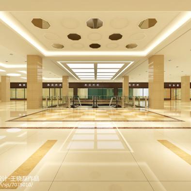 陕西西安户县商场三层餐饮公共区