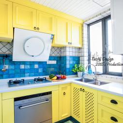 黄色系地中海风格橱柜设计