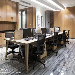 新中式办公室办公桌装修