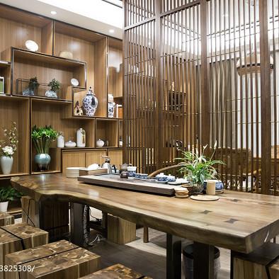 新中式办公室休闲区装修