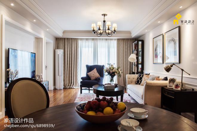 家居美式风格客厅装饰图