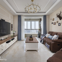 美式家装二居客厅设计图
