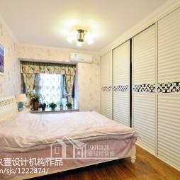 97㎡美式地中海卧室装修