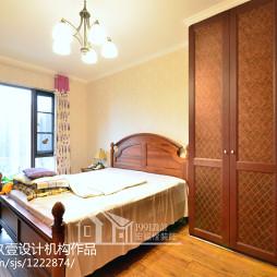 97㎡美式地中海卧室设计