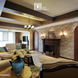 193㎡乡村美式客厅装修