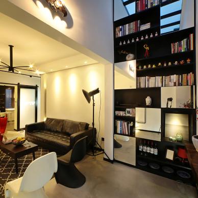 LOFT风格家居书架设计