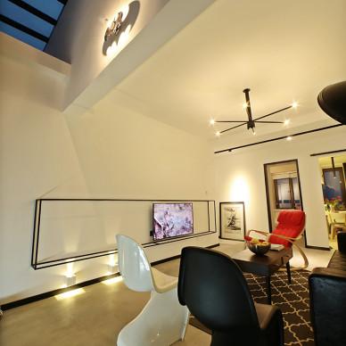 LOFT风格三居室休闲区装修